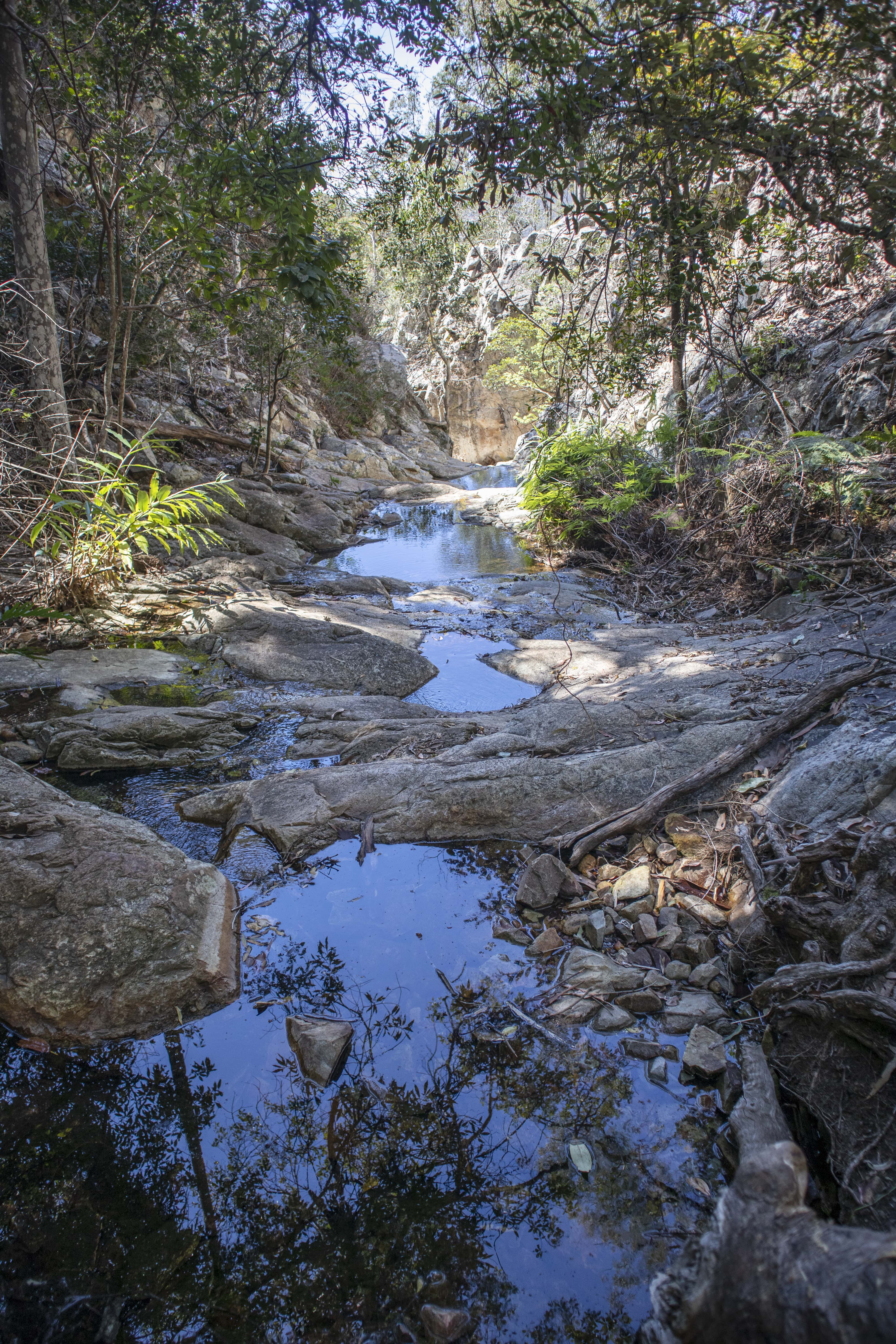 waterfall gorge in moogerah peaks national park close to brisbane and the gold coast
